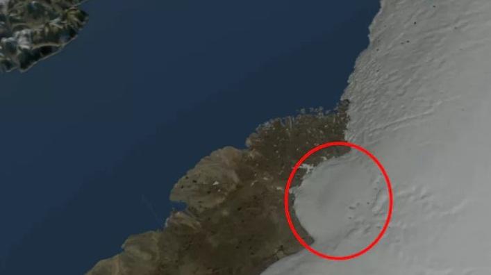 Grönland'da Büyük Krater Keşfedildi.