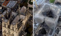 Notre Dame Katedraliden Alevler Yükseldi.