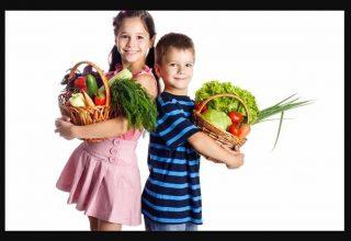 Sebze Diyetlerinde Sağlıklı Çocuklar